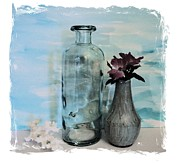 Dk Prints - The Bottle Without The Message Print by Marsha Heiken