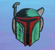 Boba Fett Paintings - The Bounty Hunter by Jera Sky