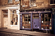 Typical Framed Prints - The Bow Bar. Edinburgh. Scotland Framed Print by Jenny Rainbow