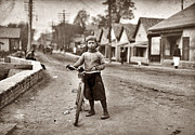 Waco Framed Prints - The boy with the bicycle Framed Print by Stefan Kuhn