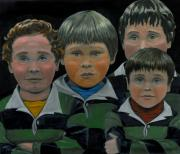 Team Paintings - The Boys Down The Street by Gail Finn