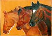 Horses Tapestries - Textiles - The Boys by Wayne Houston
