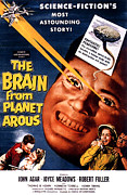 1950s Movies Framed Prints - The Brain From Planet Arous, Center Framed Print by Everett