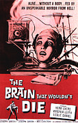 Horror Movies Framed Prints - The Brain That Wouldnt Die, Virginia Framed Print by Everett