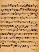 Musical Notes Drawings Prints - The Brandenburger Concertos Print by Johann Sebastian Bach