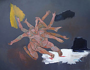 Wrestling Painting Originals - The Breeding of Sacrifice by Mark Loebach