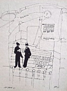 Times Square Drawings Originals - The Brewery by Wade Hampton