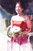 Bridesmaid Paintings - The Briadesmaid by Yolanda Koh