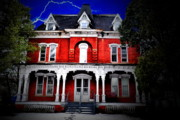 Haunted Houses Photo Prints - The Brick Print by Emily Stauring