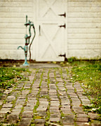 Country Cottage Posters - The Brick Path Poster by Lisa Russo