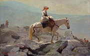 Horseback Metal Prints - The Bridal Path Metal Print by Winslow Homer