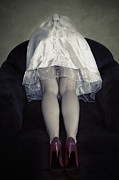 Despair Prints - The Bride From Behind Print by Joana Kruse