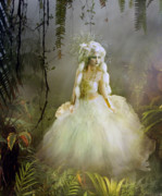 Dress Digital Art Posters - The Bride Poster by Karen Koski