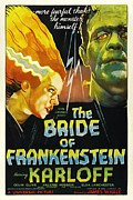 Horror Movies Framed Prints - The Bride Of Frankenstein, From Left Framed Print by Everett