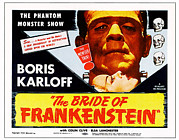 Bride Of Frankenstein Posters - The Bride Of Frankenstein, Top Boris Poster by Everett