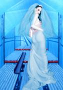 The Bride Of Innocence - Self Portrait Print by Jaeda DeWalt