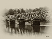 Delaware River Prints - The Bridge at Washingtons Crossing Print by Bill Cannon