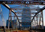 Nashville Skyline Art - The Bridge in Nashville by Susanne Van Hulst