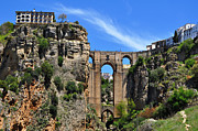 Ronda Prints - The Bridge in Ronda Spain Print by Mary Machare