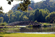 Iron Bridges Prints - The Bridge Print by Kathy  White
