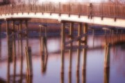Bay Bridge Mixed Media Metal Prints - The Bridge Metal Print by Kellie Prowse