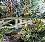 Tropical Mixed Media - The Bridge by Mindy Newman