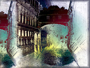 Towns Digital Art - The Bridge of Sighs Il Ponte dei Sospiri by Monica Ghit