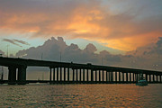 Galveston Metal Prints - The Bridge to Galveston Metal Print by Robert Anschutz