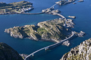 Lofoten Islands Photos - The Bridges of Henningsvaer by Heiko Koehrer-Wagner