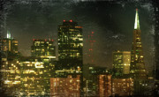 City Digital Art - The Bright City Lights by Laurie Search