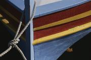 Roussillon Framed Prints - The Brightly Colored Bow Of A Boat Framed Print by Stacy Gold
