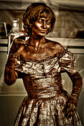Poser Prints - The Bronze Lady in Pike Place Market Print by David Patterson