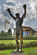 Town Of Franklin Metal Prints - The Bronze Stallion - Rocky Balboa - Philadelphia - Pennsylvania - Rocky Steps Metal Print by Lee Dos Santos