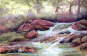 Brook  Pastels Metal Prints - The Brook Metal Print by Patricia Seitz