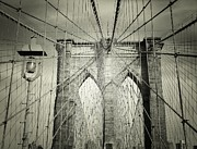 Nyc Photos - The Brooklyn Bridge by Vivienne Gucwa