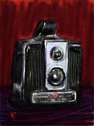 Film Camera Mixed Media Prints - The Brownie Print by Russell Pierce