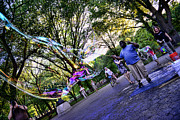 Central Park Photos - The Bubble Man of Central Park by Paul Ward