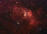 Charles Warren Posters - The Bubble Nebula Poster by Charles Warren