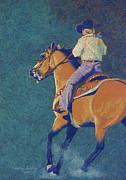 Ranch Pastels Posters - The Buckskin Poster by Tracy L Teeter