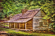 Log Cabin Art Digital Art Posters - The Bud Ogle Homestead Poster by Barry Jones
