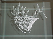 Wildlife Glass Art Originals - The Bugle by Robin Hewitt