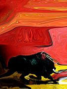 Abstract Bull Originals - The Bull by Florene Welebny