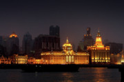 Shanghai China Tapestries Textiles Originals - The Bund - More than Shanghais most beautiful landmark by Christine Till