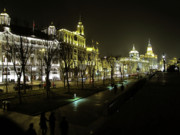 Night Scene Prints - The Bund - Shanghais famous waterfront Print by Christine Till