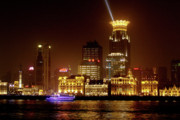 Nightshot Posters - The Bund - Shanghais magnificent historic waterfront Poster by Christine Till
