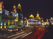 Bund Shanghai Framed Prints - The Bund At Night Framed Print by Axiom Photographic