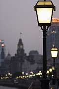 Lamp Post Prints - The Bund Print by Sam Bloomberg-rissman