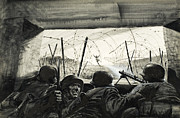 Barbed Wire Paintings - The Bunker  by Graham Coton