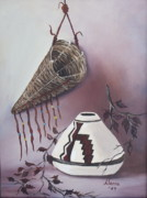 Pottery Paintings - The Burden Basket by Alanna Hug-McAnnally