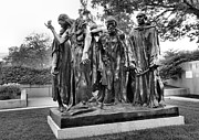 Sculpture Greeting Cards Posters - The Burghers of Calais Poster by Steven Ainsworth